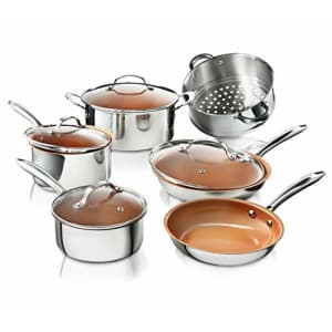 Gotham Steel Pro Chef 10-Piece Ti-Cerama Nonstick Stainless Steel Cookware Set for $149