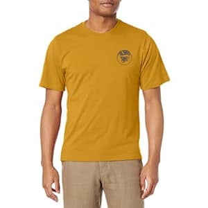 G.H. Bass & Co. Men's Short Sleeve Graphic Print T-Shirt, Mineral Yellow, Small for $15