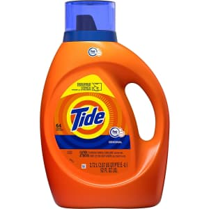 Tide HE Turbo Clean 92-oz. Liquid Laundry Detergent for $9