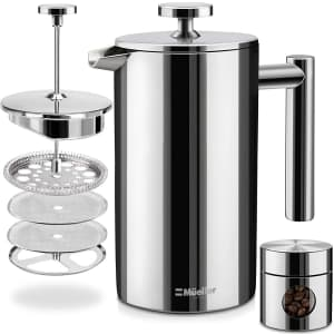 Mueller 34-oz. Double Insulated Stainless Steel French Press Coffee Maker for $30