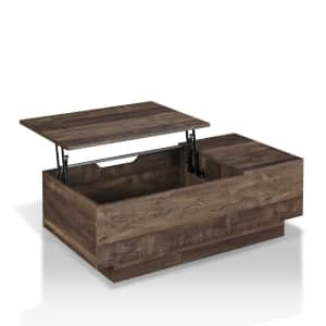 Furniture of America Uver Rustic Oak Lift-top Coffee Table for $263