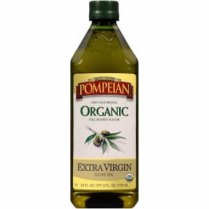 Pompeian 24-oz. Organic Extra Virgin Olive Oil for $8