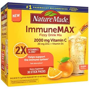 Nature Made Immunemax Fizzy Drink Mix, with Vitamin C, Vitamin D, and Zinc for Immune Support, 30 for $14