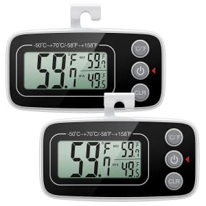 Oria Refrigerator Thermometer 2-Pack for $11