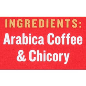French Market Coffee, Coffee and Chicory, Dark Roast Ground Coffee, 12 Ounce Metal Can for $6