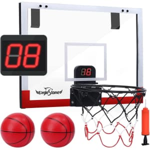 EagleStone Indoor Mini Basketball Hoop Set for $22