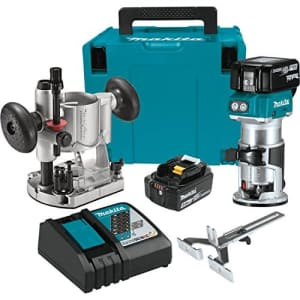 Makita XTR01T7 18V LXT Lithium-Ion Brushless Cordless Compact Router Kit for $510