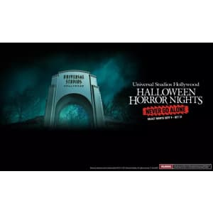 Universal Studios Hollywood Halloween Horror Nights at Groupon: up to $43 off select dates