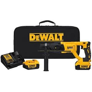 DEWALT 20V MAX XR Rotary Hammer Drill Kit, D-Handle, 1-Inch (DCH133M2) for $199