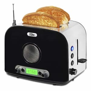 """Maxi-Matic ERT-6067 Long Cool Touch 4-Slice Toaster Extra Wide 1.25"""" Slots for Bagels Waffles, 2, for $72"""