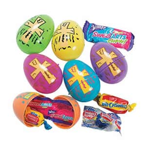 Fun Express Candy Filled Religious Easter Eggs (Set of 24) Easter Hunt and Party Supplies for $20
