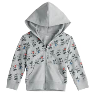 Jumping Beans Disney's Mickey Mouse Boys' Full-Zip Hoodie for $10