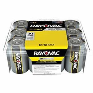 Rayovac UltraPRO Alkaline D Batteries, ALD-12 for $20