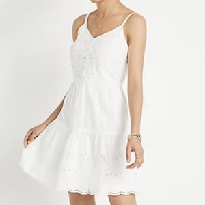 Maurices Women's Eyelet Lace Button Front Mini Dress for $10