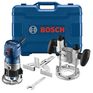 Bosch GKF125CEPK Colt 1.25 HP (Max) Variable-Speed Palm Router Combination Kit for $219