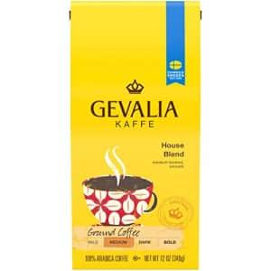 Gevalia House Blend Medium Roast Ground Coffee (12 oz Bags, Pack of 6) for $36