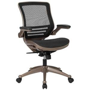Flash Furniture Mid-Back Transparent Black Mesh Executive Swivel Office Chair with Melrose Gold for $215