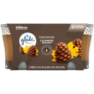 Glade Air Freshener Candle Jar 2-Pack for $3 via Sub & Save