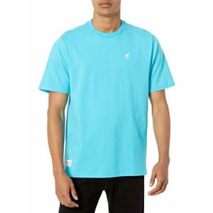 LRG Men's Spring 2021 Striped-Solid Knit Crew T-Shirt, Teal, 2X for $11