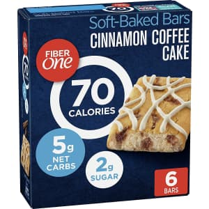 Fiber One 70-Calorie Bar 6-Count 8-Pack for $16