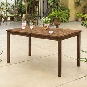 Walker Edison Furniture Company AZWSDTDB 6 Person Outdoor Patio Wood Rectangle Dining Table All for $209