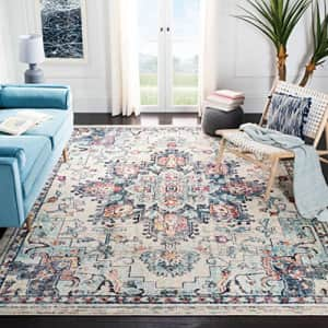 SAFAVIEH Madison Collection MAD473B Boho Chic Medallion Distressed Non-Shedding Living Room Bedroom for $74