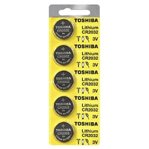 Toshiba CR2032 Battery 3V Lithium Coin Cell (100 Batteries) for $20