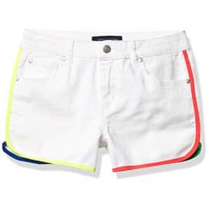 Tommy Hilfiger Kids Girls' 5-Pocket Denim Short, White, 10 for $24