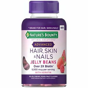 Nature's Bounty Optimal Solutions Advanced Hair, Skin & Nails Jelly Beans with Biotin, Mixed Fruit for $20