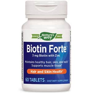 Nature's Way Biotin Forte 3mg with Zinc for $14
