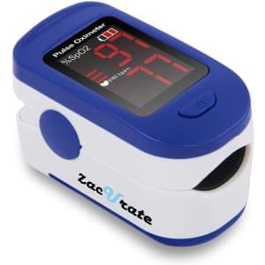 Zacurate 500BL Fingertip Pulse Oximeter for $14