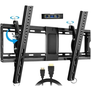 """Everstone Tilting TV Wall Mount for 32"""" to 86"""" TVs for $25"""