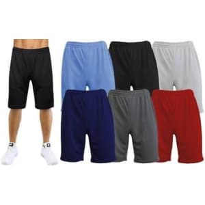 Galaxy By Harvic Men's Performance Mesh Shorts 3-Pack for $13 w/ Prime