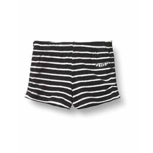 Volcom Girls' Lil Fleece Shorts, Black White, 6X/X-Large for $25