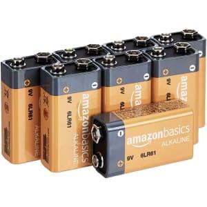 AmazonBasics 9V Alkaline Batteries 8-Pack for $8.49 via Sub & Save