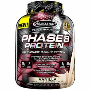 Whey Protein Powder | MuscleTech Phase8 Protein Powder | Whey & Casein Protein Powder Blend | Slow for $36