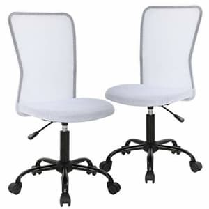 BestMassage Ergonomic Office Chair Desk Chair Mesh Computer Chair with Lumbar Support No Arms Swivel Rolling for $160