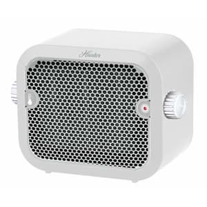 HUNTER 1,500-Watt Personal Ceramic Heater with Adjustable Thermostat, White for $23