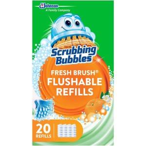 Scrubbing Bubbles Fresh Brush Flushable Refill 20-Pack for $7