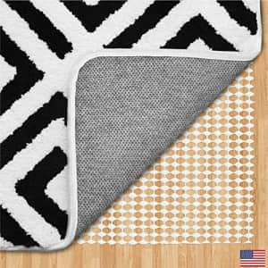 Gorilla Grip Original Area Rug Gripper Pad, 4 Square FT, Made in USA, Extra Thick Pads for Hardwood for $31