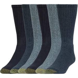 Gold Toe Men's Harrington Crew Socks 6-Pack for $8