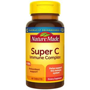Nature Made Super C Immune Complex Tablets with Vitamin C, D and Zinc, 60 Tablets (Packaging May for $19