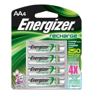 Eveready Energizer NH15BP4 Rechargeable AA Batteries, NiMH, 4/PK, MI for $11