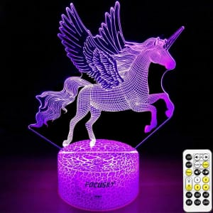 Focusky LED Color-Changing Unicorn Night Light for $22