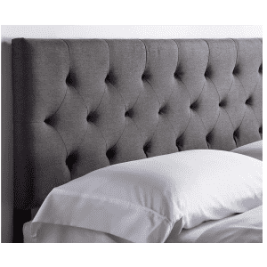 Lucid Mid-Rise Diamond Tufted Upholstered Queen Headboard for $114