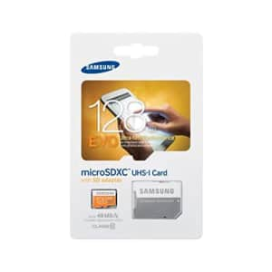 Samsung 128GB EVO Class 10 Micro SDXC Card with Adapter up to 48MB/s (MB-MP128DA/EU) for $54