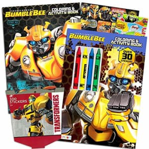 Transformers Rescue Bots Coloring and Activity Super Set -- 2 Activity Books and Play Pack Filled for $9