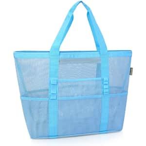 Baleine Large Mesh Beach Tote Bag for $10