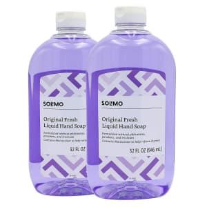 Solimo Original Fresh 32-oz. Liquid Hand Soap 2-Pack for $7