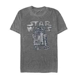 Star Wars Men's T-Shirt, Charcoal Heather, X-Large for $18